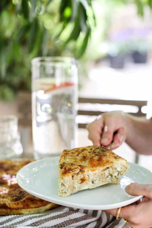 מאפה פילו עם חציל קלוי וגבינות