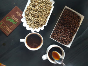 פולי הקפה מגיעים היישר מהחוואי לכוס שלכם