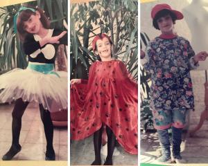 תחפושות צבעוניות וחיוך. פורים בילדותי (צילום: אהובה שורצברד)
